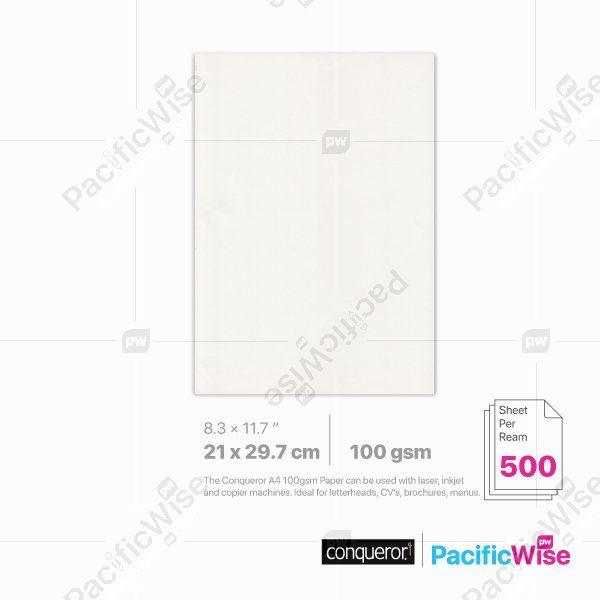 Conqueror Wove Paper 100GSM A4 Size (500'S)