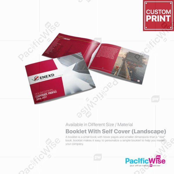 Customized Digital Printing Booklet with Self Cover (Landscape)