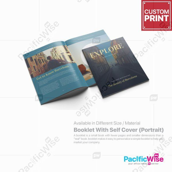 Customized Digital Printing Booklet with Self Cover (Portrait)