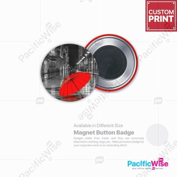 Customized Printing Button Badge (Magnet)