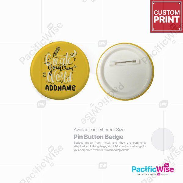 Customized Printing Button Badge (Pin)