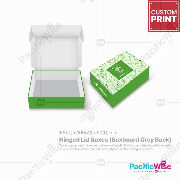 Customized Printing Hinged Lid Boxes (Boxboard Grey Back)