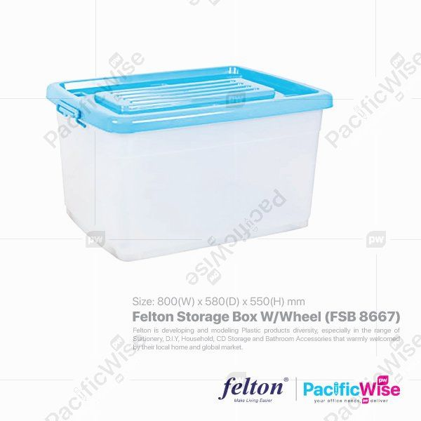 Felton Storage Box W/Wheel (FSB 8667)