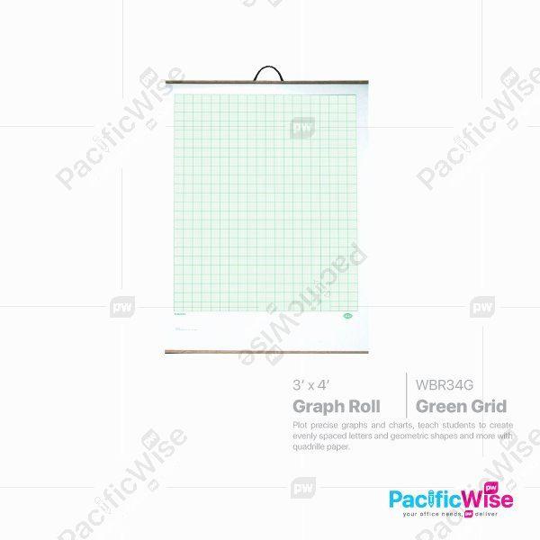 Graph Roll (WBR34G) Green Grid