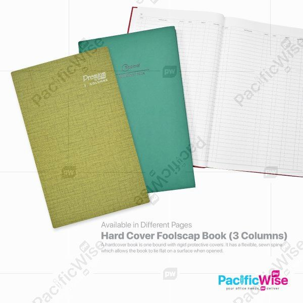 Hard Cover Foolscap Book (3 Columns)