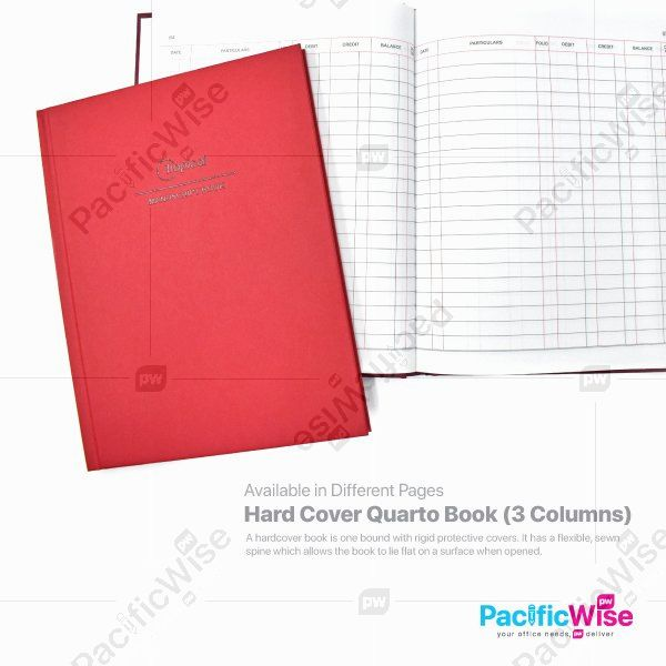 Hard Cover Quarto Book (3 Columns)