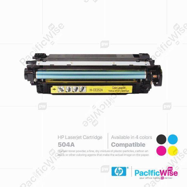 HP 504A LaserJet Toner Cartridge CE250A ~ CE253A (Compatible)