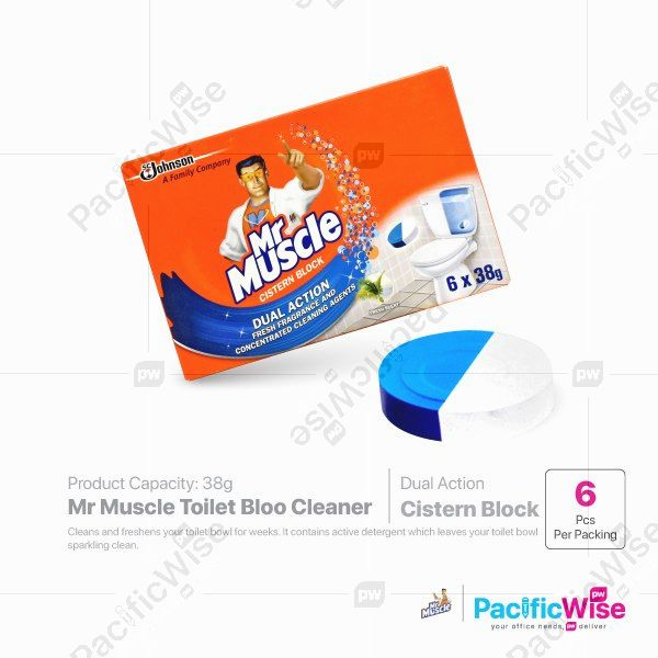 Mr Muscle Toilet Bloo Cleaner (38gx6's)