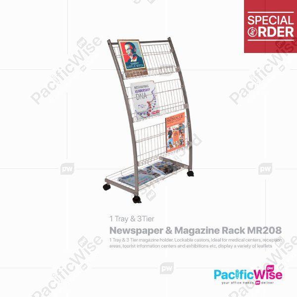 Newspaper & Magazine Rack (MR208)