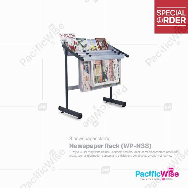 Newspaper Rack Included 3 Newspaper Clamp (WP-N38)