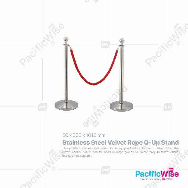 Stainless Steel Velvet Rope Q-Up Stand