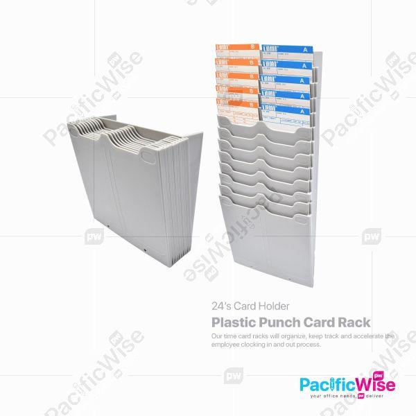 Plastic Punch Card Rack
