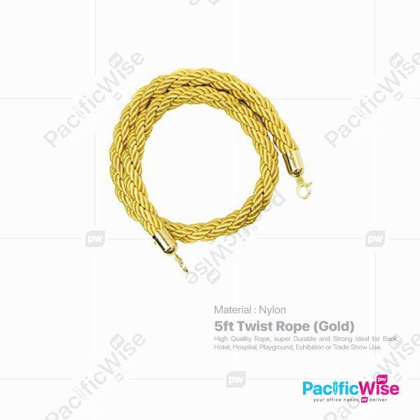 5FT Twist Rope (Gold)