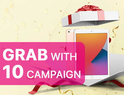 Win An iPad With Grab With 10 Campaign