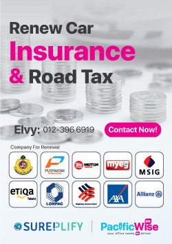 Renew Car Insurance & Road Tax