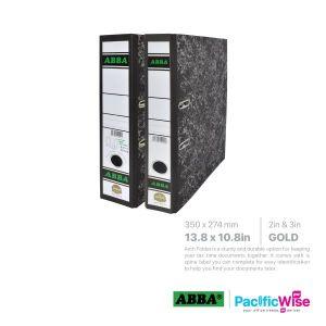 ABBA Lever Arch File Gold