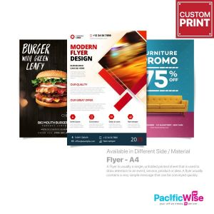 Customized Digital Printing Flyer (A4)