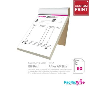 Customized Printing Bill Pad