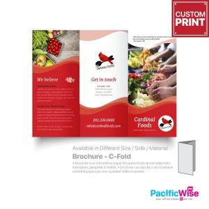 Customized Digital Printing Brochure (C-Fold)