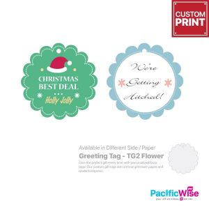 Customized Printing Greeting Tag (TG2-Flower)