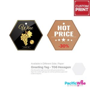 Customized Printing Greeting Tag (TG6-Hexagon)