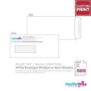 "Customized Printing White Envelope 9.5"" x 4.5"""