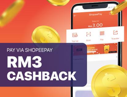 Get RM3 Shopee Cashback Via ShopeePay!